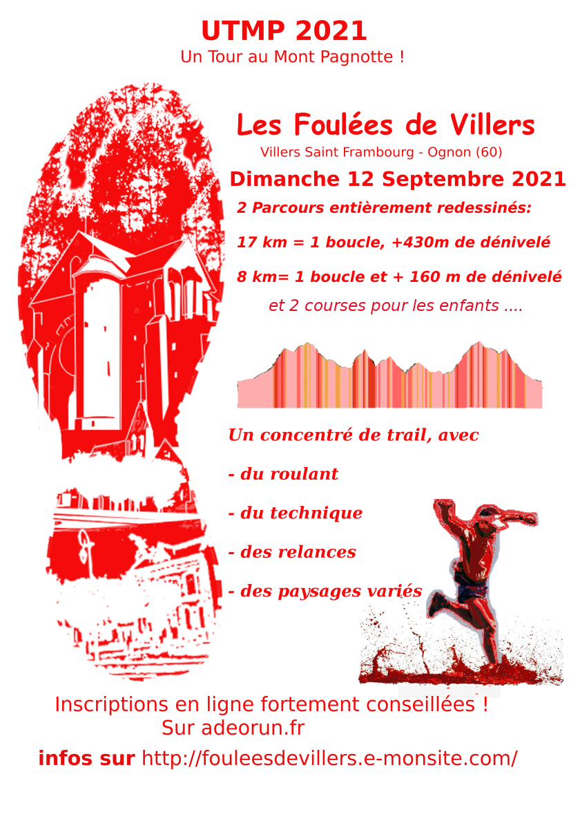 Affiche foulees2021 petite